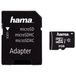 Card de memorie microSDHC 8GB Clasa 10 UHS-I 45MB/S + adaptor, HAMA 123971