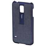 Carcasa de protectie pentru Samsung Galaxy S5, HAMA Fabric 124684, Blue
