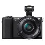 Camera foto digitala compacta SONY Alpha A5100 cu obiectiv 16-50mm, 24Mp, 3 inch, negru