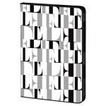 Husa de protectie tip stand ELLE Original 104672 pentru iPad Air, alb-negru