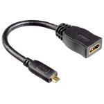 Cablu adaptor micro HDMI - HDMI HAMA 12223