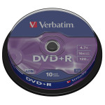 DVD+R VERBATIM 43498, 16x, 4.7GB, 10buc - Spindle