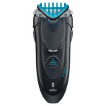 Aparat de tuns parul facial BRAUN CruZer5 Face, cu/fara fir, Quick-shave, negru - albastru