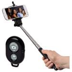 Stick pentru selfie Moments 100 + Telecomanda Bluetooth pentru camera, HAMA 136496