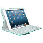 Husa de protectie cu tastatura LOGITECH Ultrathin 920-006002 pentru iPad mini, alb-verde