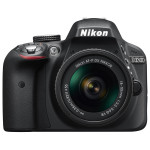 Camera foto DSLR NIKON D3300 + obiectiv AF-P 18-55mm VR , 24.2 Mp, 3 inch, negru