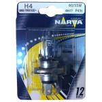 Bec auto far halogen NARVA 486774000, H4, Range Power Blue+, 12V, 60/55W, P43T