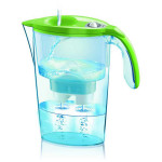 Cana filtranta LAICA Stream Mechanical, 2.3l, verde