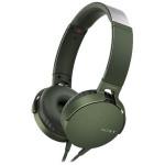 Casti on-ear cu microfon SONY MDR-XB550APG, Verde