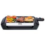 Gratar electric TEFAL Plancha Valencia Silvermania CB671816, 1600W, suprafata de gatit plana si grill, negru