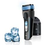 Aparat de ras BRAUN CoolTec CT2cc Wet & Dry, Clean&Charge, 45min, negru - albastru
