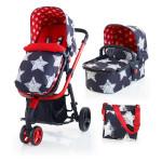 Carucior copii 2 in 1 COSATTO Giggle HipStar, 0-15Kg, rosu-albastru, Editie limitata