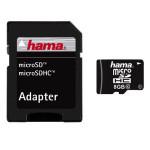 Card de memorie + adaptor HAMA 108084 microSDHC 8GB
