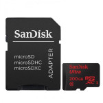 Card de memorie microSDXC SANDISK ULTRA Clasa 10 pentru filmare FullHD, 90MB/sec, 200GB + Adaptor