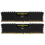 Memorie desktop Corsair Vengeance LPX Black 2x8GB DDR4, CL16, CMK16GX4M2A2666C16