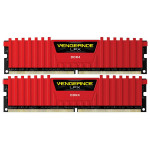 Memorie desktop Corsair Vengeance LPX Red 2x8GB DDR4, 2400MHz, CL16,  CMK16GX4M2A2400C16R