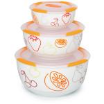 Set 3 boluri ceramice OURSSON BS2981RC/DC, 0.3 / 0.85 / 1.7 l, portocaliu