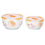 Set 2 boluri ceramice OURSSON BS4781RC/OR, 1.7 / 3.0 l, portocaliu