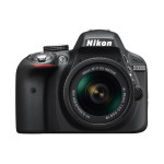 Camera foto DSLR NIKON D3300 + obiectiv AF-P 18-55mm, 24.2 Mp, 3 inch, negru
