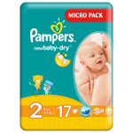 Scutece PAMPERS New Baby 2 Mini, Micro Pack, 17 buc, 3-6 kg