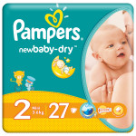 Scutece PAMPERS New Baby 2 Mini, 27 buc, 3-6 kg