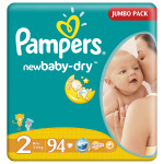 Scutece PAMPERS New Baby 2 Mini, Jumbo Pack , 94 buc, 3-6 kg