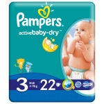 Scutece PAMPERS Active Baby 3 Midi, 22 buc, 4-9 kg
