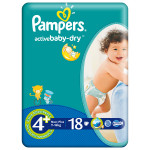 Scutece PAMPERS Active Baby 4+ Maxi Plus, 18 buc, 9-16 kg