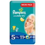 Scutece PAMPERS Active Baby 5 Junior, Micro Pack, 11 buc, 11-18 kg