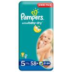 Scutece PAMPERS Active Baby 5 Junior, Jumbo Pack, 58 buc, 11-18 kg