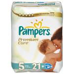 Scutece PAMPERS Premium Care 5 Junior, 21 buc, 11-25 kg
