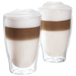 Set pahare latte macchiatto TCHIBO 264091, sticla