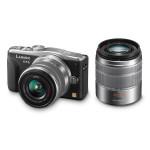 Camera foto mirrorless PANASONIC DMC-GF6, 16Mp, 3 inch + 2 obiective 14-42mm si 45-150mm, argintiu