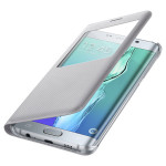 Husa S View Cover pentru Samsung Galaxy Edge+, SAMSUNG EF-CG928PSEGWW, Silver