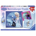 Puzzle RAVENSBURGER Frozen, Elsa, Ana si Olaf, 3x49 piese