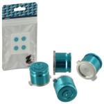 Protectie butoane PS4 - Zedlabz Alloy Metal Bullet X4, blue