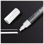 Marker SIGEL Chalk 50 GL181, 1-5 mm, alb