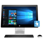 "Sistem All in One HP Pavilion 23-q101na, 23"" Full HD Touch Screen, AMD Quad-Core A10-8700P pana la 3.2GHz, 6GB, 1TB, AMD Radeon™ R6, Windows 10"