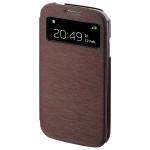 Husa S-View pentru Samsung i9500 Galaxy S4 HAMA Booklet Window 122926, Brown
