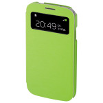 Husa S-View pentru Samsung i9500 Galaxy S4 HAMA Booklet Window 122929, Green