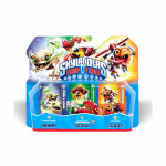 Set 3 figurine: Funny Bone, Shure Shot Shroomboom, Chopper - Skylanders Trap Team