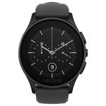 Smartwatch VECTOR Luna, Flat Black with Black Silicone Strap