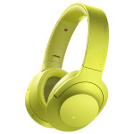 Casti on-ear cu microfon Bluetooth Hi-Res SONY MDR-100ABNY, Wireless, Noise-canceling, galben