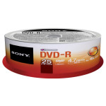 DVD-R SONY 25DMR47SP, 16x, 4.7GB, 25buc - Spindle