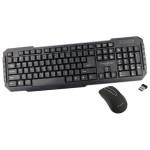 Kit tastatura si mouse fara fir MYRIA MY8509, USB, negru
