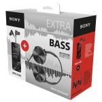 MP4 Player SONY NWZ-E585, 16 GB + casti SONY MDR-XB450AP