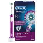 Periuta de dinti cu acumulator BRAUN Oral-B PRO 400 Cross Action, mov