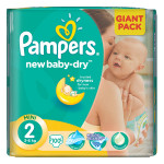 Scutece PAMPERS New Baby 2 Mini, Giant Pack, 100 buc, 3-6 kg