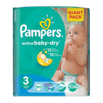 Scutece PAMPERS Active Baby 3 Midi, Giant Pack, 90 buc, 4-9 kg