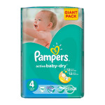 Scutece PAMPERS Active Baby 4 Maxi, Giant Pack, 76 buc, 7-14 kg